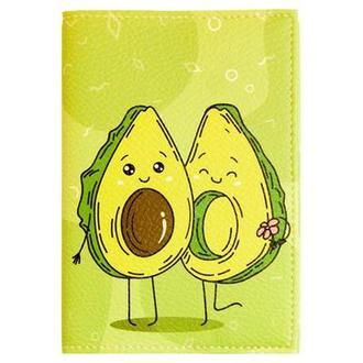 Обложка для паспорта Авокадо зеленый