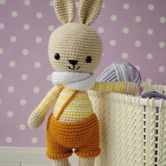 Игрушка заяц, Подарунок для дитини, Пасхальний зайчик, мяка іграшка для дівчинки,