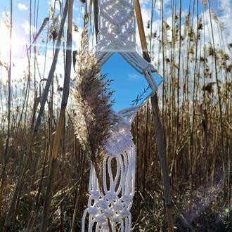 Зеркало настенное (панно, макраме)