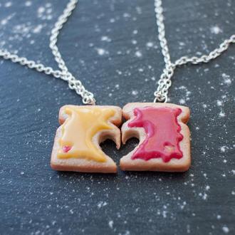 Парные кулоны половинки тосты для влюбленных или друзей, подарок ко Дню Святого Валентина