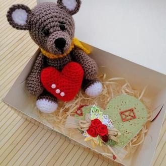 Медвежонок.Медвежонок Тедди. С сердечком.