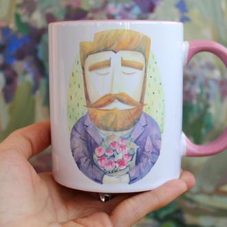 """Чашка с  иллюстрацией """" Це твоя  весна"""""""
