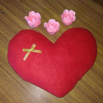 Подушечка Красное Сердце
