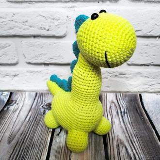 Вязанный динозавр амигуруми Мягкая игрушка дракон