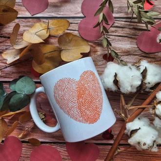 керамическая чашка с дизайном