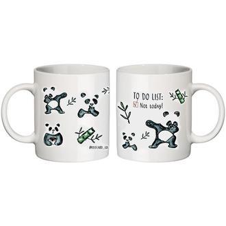 """керамическая чашка с дизайном """"панда"""""""