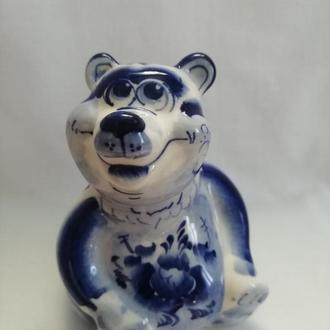 Медведь Потапич  статуэтка керамическая