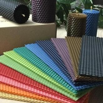 Набор цветной вощины для творчества, мастерклассов, цветная вощина 24 шт в упаковке