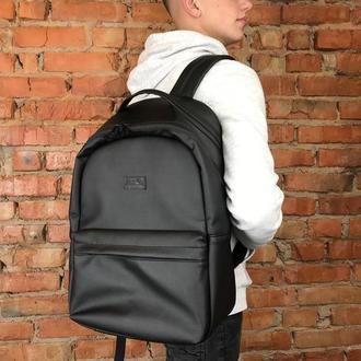 Мужской черный вместительную рюкзак для спортзала