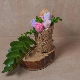 Мыльный букет из 5 роз