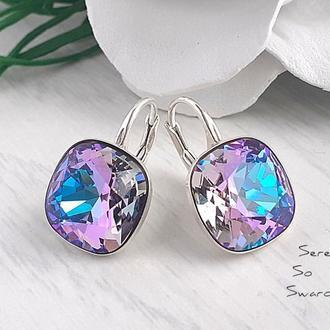 Серьги с кристаллами Сваровски Vitrail Light