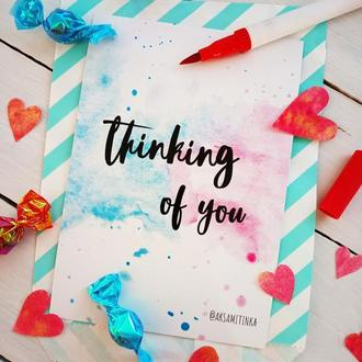 "Открытка ""Thinking of you"""