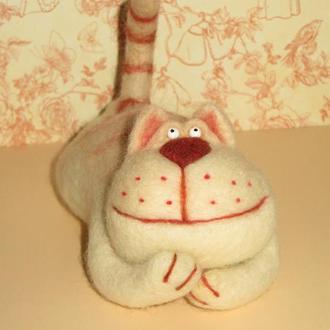 Кот Мечтатель валяная игрушка