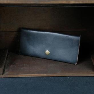 Кожаный кошелек, Баттерфляй, кожа итальянский краст, цвет Кофе