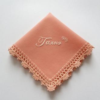 Батистовый платочек с вышитым именем