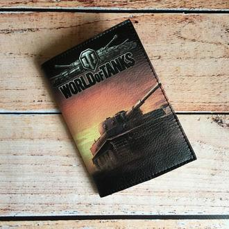 Мужская обложка на паспорт World of Tanks