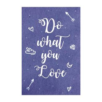 Открытка Do what you love синий
