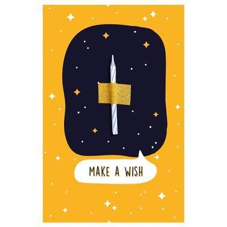 Открытка Make a wish оранжевый