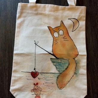 Эко-сумка Кот