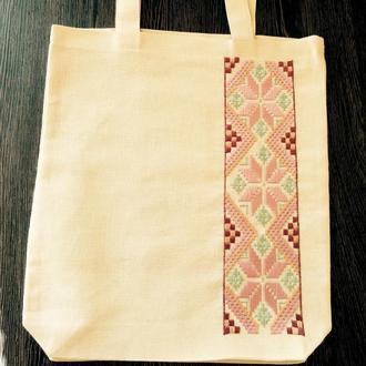 Эко-сумка с вышивкой