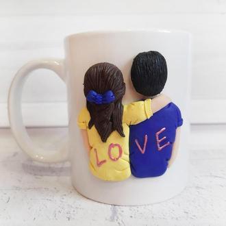 Чашка в подарок влюбленным на 14 февраля день святого Валентина