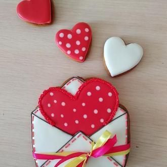 Пряники сердце в конверте