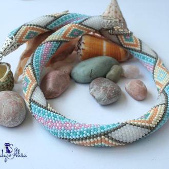 Жгут из бисера  «Морские камешки»