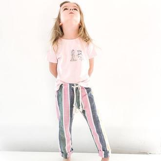 Дитячі штані з льону / полосатые льняные штаны
