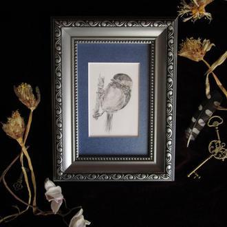 Птица #3  графика миниатюра