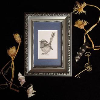Птица #1  графика миниатюра