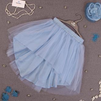 Детская фатиновая юбка с ассиметрией