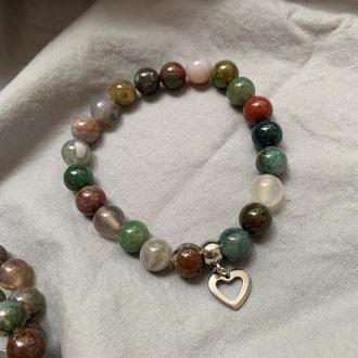 Женский браслет из натурального камня индийский агат