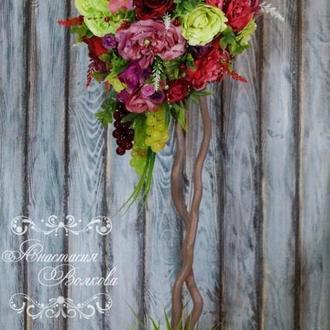 Цветочное интерьерное дерево, топиарий