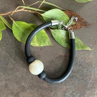 Оригинальный женский браслет жгут жемчуг