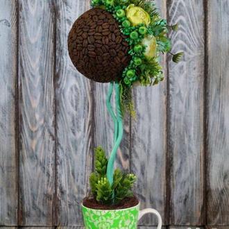 Кофейный Топиарий, кофейное интерьерное дерево