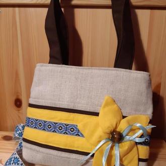 Детская сумочка в украинском стиле