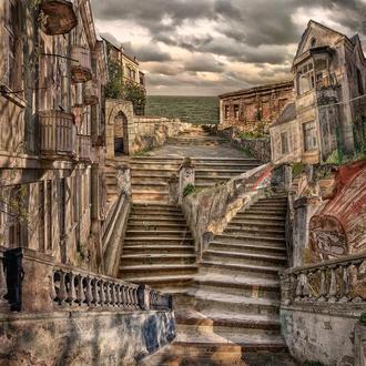 Фотоколлаж Bronchi della città meridionale. Escherian Chronicles