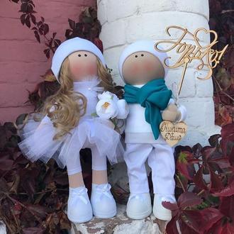 Текстильные куклы Жених Невеста