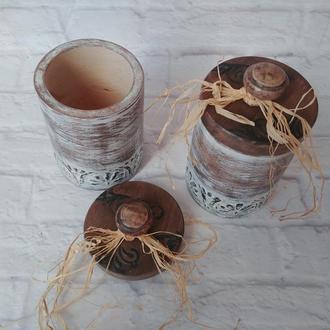 Короба для сыпучих Деревянные емкости для хранения чая