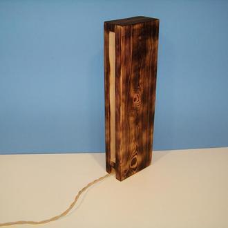 светильник деревянный светодиодный