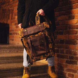 Городской эксклюзивный роллтоп рюкзак . Отделение для ноутбука.