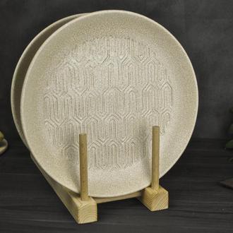 Керамическая тарелка для сервировки