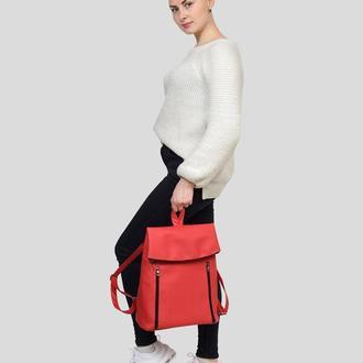 Женский красный рюкзак для учебы