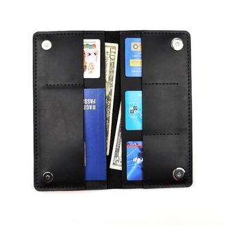 Трэвэл кейс, вместительный кошелёк, портмоне, мужской кошелёк, отличный подарок, гаманець