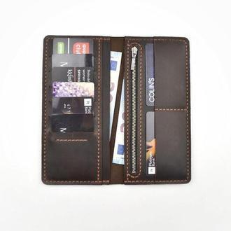 Кожаный кошелёк, портмоне, кошелёк