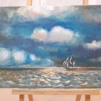 """Купити картину """"Перед бурею"""" продаж картини, розмір 60х40 см, олія, полотно на підрамнику"""