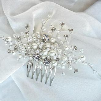 Свадебное украшение для волос, гребешок в прическу, украшение в прическу невесте, свадебные заколки
