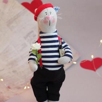 Кот Валентин (подарок ко дню влюблённых)
