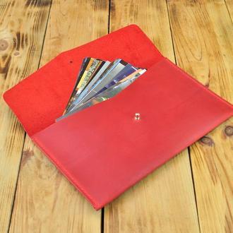 Кожаный чехол (конверт) - поможет хранить в порядке документы и бомаги