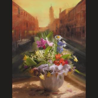 """Фотоколаж """"Jeune laitière. Floral Personalities"""""""